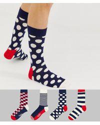 Happy Socks - 4 Pack Stripe Gift Box - Lyst