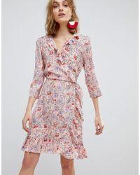 Vero Moda - Frill Wrap Dress - Lyst