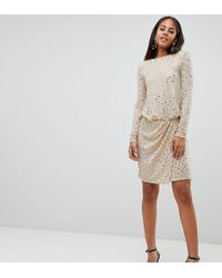 cb59e7c4 Flounce London Lurex Sequin Mini Dress With Shoulder Pads in Black ...