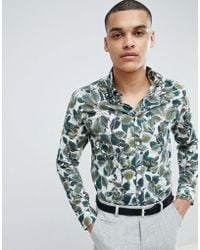 SELECTED - + Slim Fit Shirt With All Over Print - Lyst