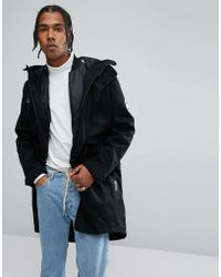 adidas Originals - Utility Parka With Detachable Jacket In Black Br7001 - Lyst