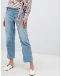 Warehouse - Straight Leg Jean In Light Wash - Lyst