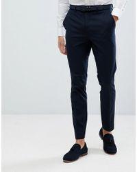 342b9257 Jack & Jones Premium Super Slim Fit Stretch Suit Pants In Gray in ...