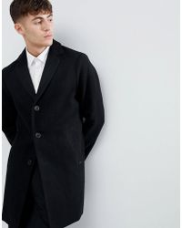 Esprit - Smart Wool Overcoat In Black - Lyst