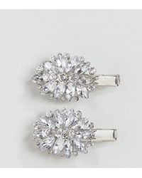 True Decadence - Diamante Hair Clips - Lyst