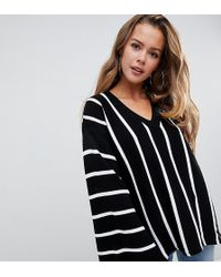 679c723c9590 Boohoo - Wide Sleeve Oversized Sweater In Stripe - Lyst