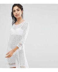 Akasa - Crochet Flared Sleeve Beach Dress - Lyst