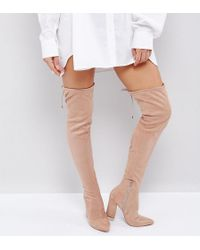 ASOS - Karma Pointy Over The Knee Boots - Lyst