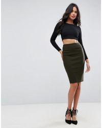 ASOS - High Waisted Pencil Skirt - Lyst