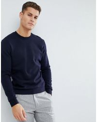 Reiss - Sweat In Navy - Lyst