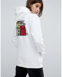 Vans - Oversized Hoodie In White With Logo - Lyst