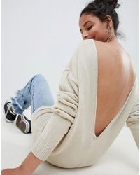 Glamorous - Relaxed Jumper With Scoop Back - Lyst