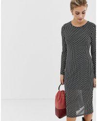 Glamorous - Midi Dress With Long Sleeves - Lyst