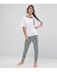 ASOS - Panda-monium Legging And Tee Pyjama Set - Lyst