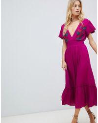 Cleobella - Capri Embroidered Maxi Dress - Lyst