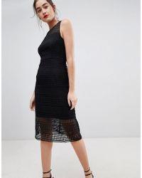 Sugarhill - Nadia Geo Lace Midi Dress - Lyst