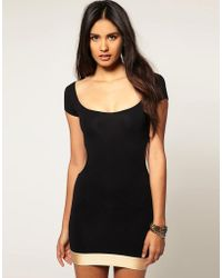 Quontum - Cut Away Dress With Gold Straps - Lyst