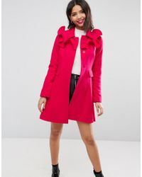 ASOS - Asos Skater Coat With Frills - Lyst