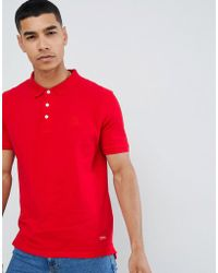 Pull&Bear - Join Life Polo In Red With Sunset Embroidery - Lyst