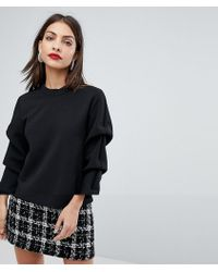 SELECTED - Femme Sweatshirt With Sleeve Detail - Lyst
