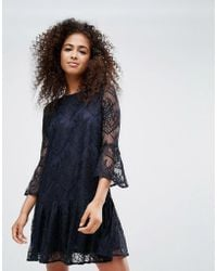 Ganni - Flynn Lace Dress - Lyst