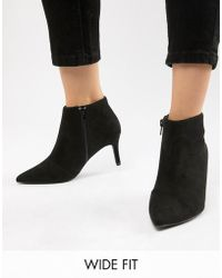 New Look - Wide Fit Heeled Ankle Boot - Lyst