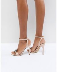 Lipsy - Barely There Heeled Sandal With Embellishment - Lyst