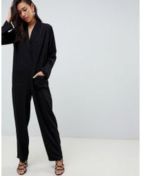 ASOS - Minimal Boiler Jumpsuit With Pockets - Lyst