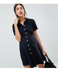 ASOS - Asos Design Maternity Polo Shirt Dress With Tortoiseshell Buttons - Lyst