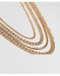 ASOS - Chain Pack In Gold Tone - Lyst