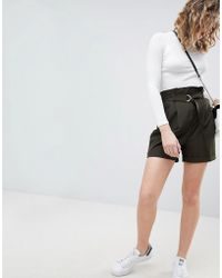 ASOS - Asos Tailored D-ring Paper Bag Short - Lyst