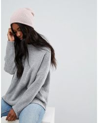 SELECTED - Cashmere Knit Beanie - Lyst