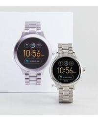 Fossil - Q Ftw6003 Venture Bracelet Smart Watch In Silver - Lyst