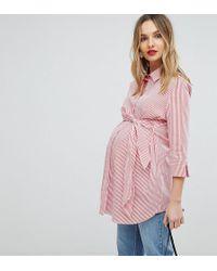 Isabella Oliver - Shirt With Wrap Tie Waist - Lyst