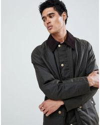 Barbour - Ashby Wax Jacket Olive - Lyst