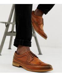 ASOS - Zapatos Oxford de ancho especial en cuero tostado pulido de - Lyst
