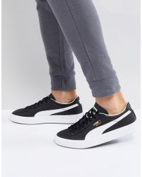 619b177bfff Puma Basket Tech Trainers In Black 36316304 in Black for Men - Lyst