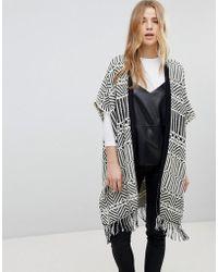 New Look - Jacquard Blanket Cardi - Lyst