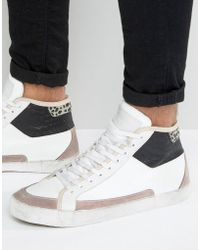 Religion - League Hi Top Suede Trainers - Lyst