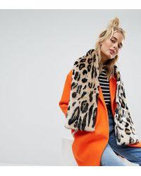 Urbancode - Leopard Print Faux Fur Scarf - Lyst