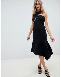 ASOS - Hook And Eye Detail Midi Dress - Lyst