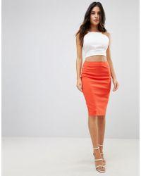 3ea1111c551a Lyst - Women's ASOS Knee-length skirts On Sale