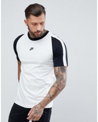 Nike - N98 T-shirt With Central Logo In White Ah8648-121 - Lyst