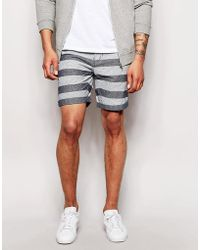 Minimum - Short With Horizontal Stripe - Lyst