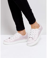 Truffle Collection - Satin Trainers - Lyst