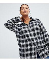 Missguided - Boyfriend Shirt In Check - Lyst