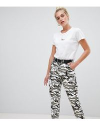 Daisy Street - Combat Pants With Pockets In Camo - Lyst