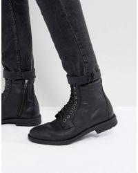 KG by Kurt Geiger - Kg By Kurt Geiger Military Lace Up Boots Black - Lyst
