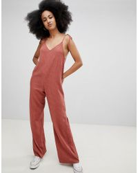 Pull&Bear - Cami Detail Woven Jumpsuit In Rust - Lyst