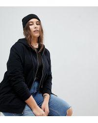 ASOS - Asos Design Curve Zip Through Hoodie In Black - Lyst